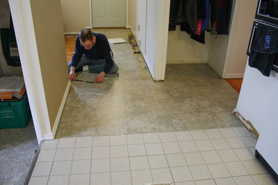 Care in installation is key to a tile floor's longevity.