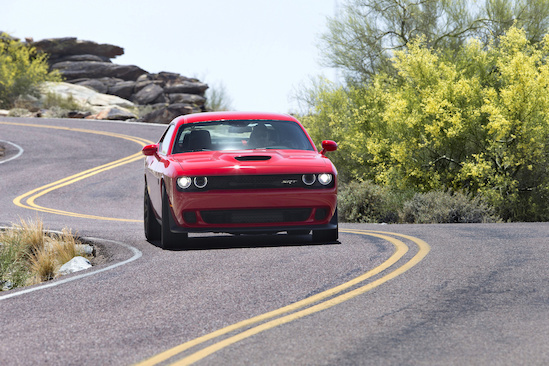 The 2017 Challenger vehicle includes crumple zones at the front and rear ends to absorb impact energy.