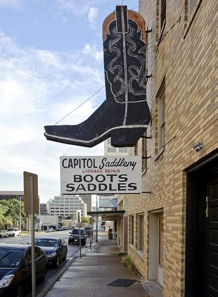 """Buck"" Steiner's original saddlery shop established in 1930 still stands today."