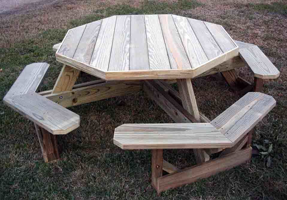 5 Ft. Octagonal Picnic Table