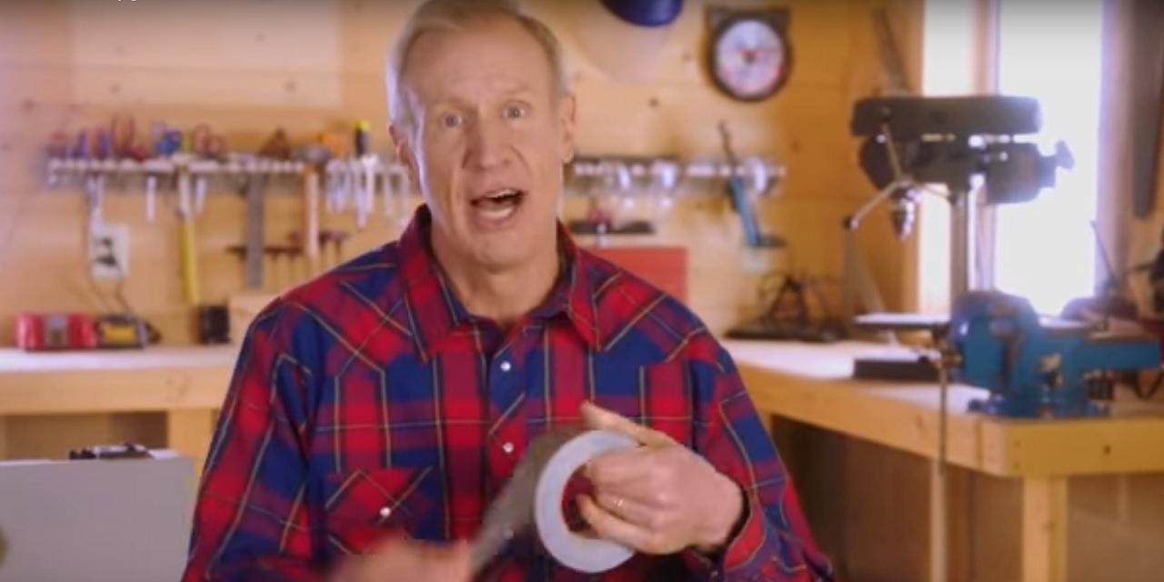 Illinois' Republican Gov. Bruce Rauner in his most recent political campaign ad