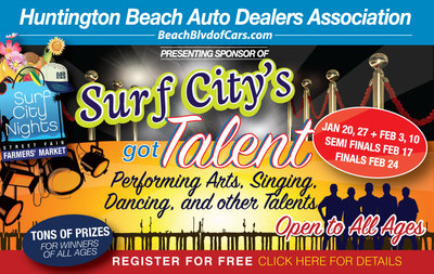 Come t the Surf City Nights Farmer's Market on Feb. 10 to hear the latest entries in the Surf City's Got Talent competition
