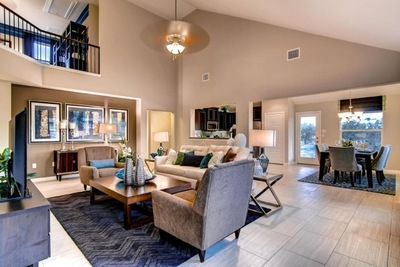 Home purchasers can expect to choose from more than 10 professionally designed floor plans, which include features such as three-sided stone or brick masonry, granite countertops in the kitchen, ceramic tile flooring per plan, and a suite of additional fe
