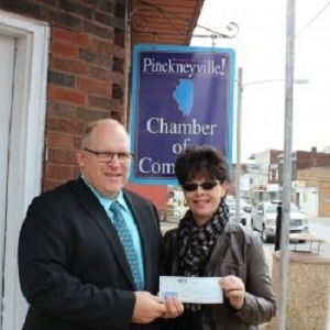 Cheryl Epplin won $19,531 at the Pinckneyville Mardi Gras.
