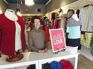 Patricia Bartley and her store, Main Street Chic