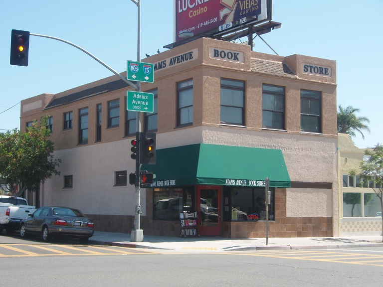 The Adams Avenue Bookstore is at 3502 Adams Ave.