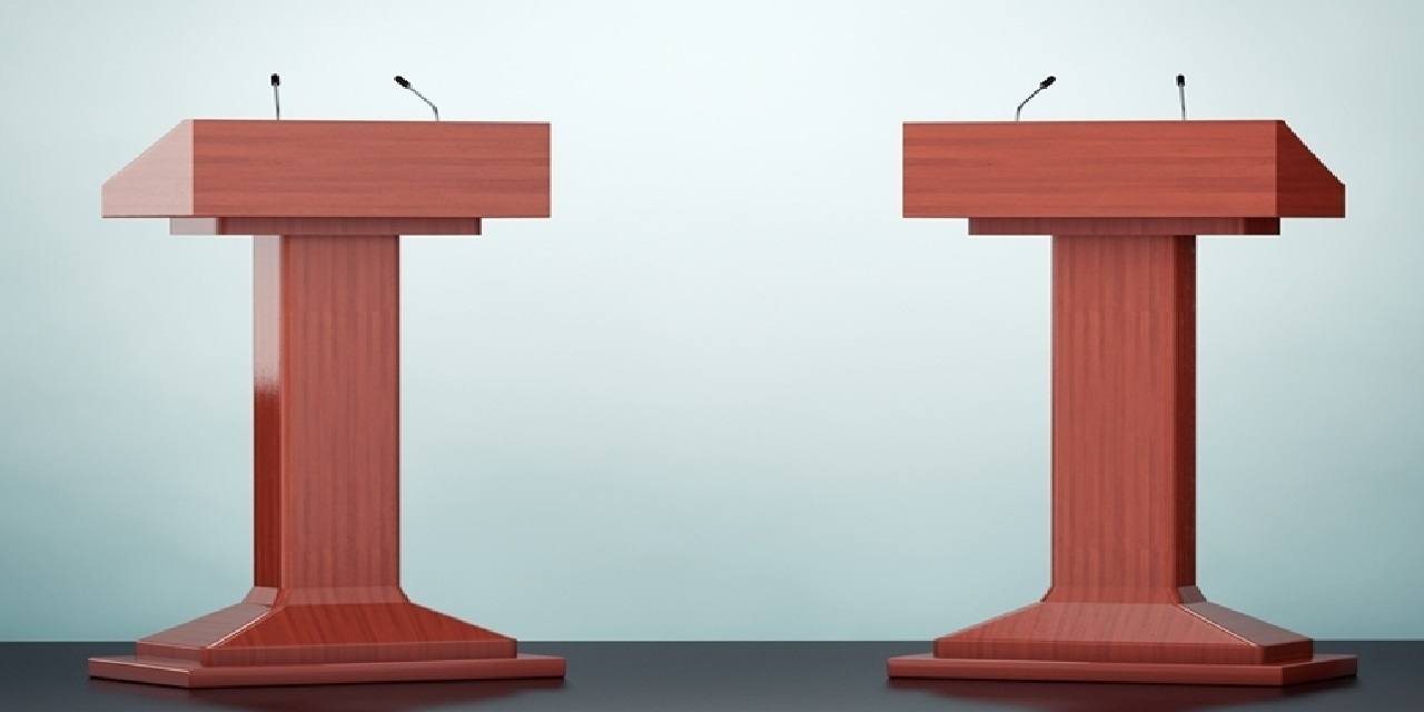 Two lecterns