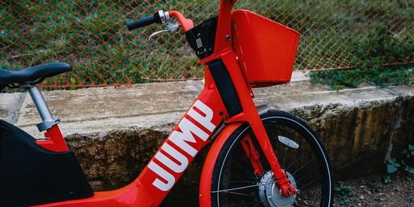 Large jump  uber bike