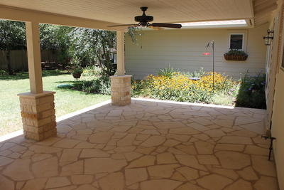With regular cleaning and maintenance, stone patios can look as new as when they were first installed.