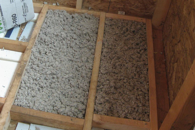 Options are available for insulation from recycled materials.