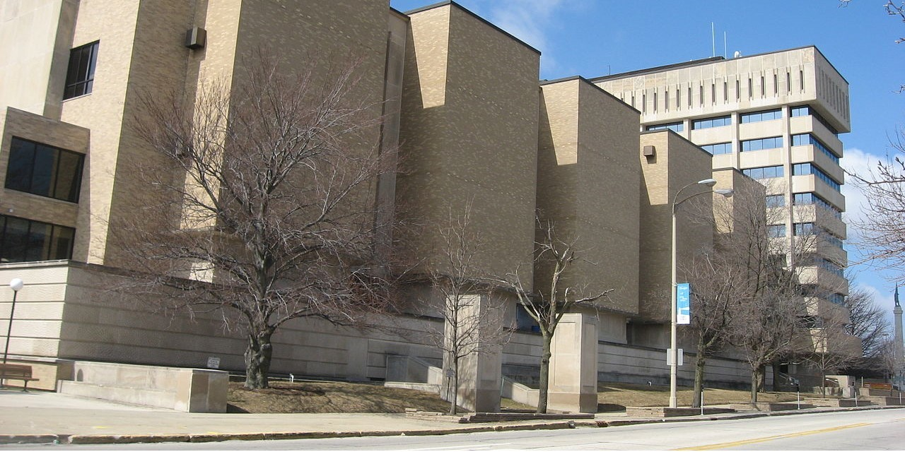 Lake county courthouse in waukegan