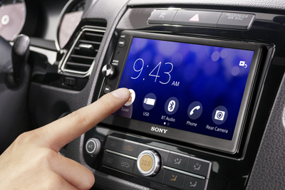Sony's in-dash Bluetooth media receiver makes it safer to use smart phone technology in the car.