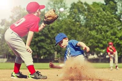 Medium youth baseball