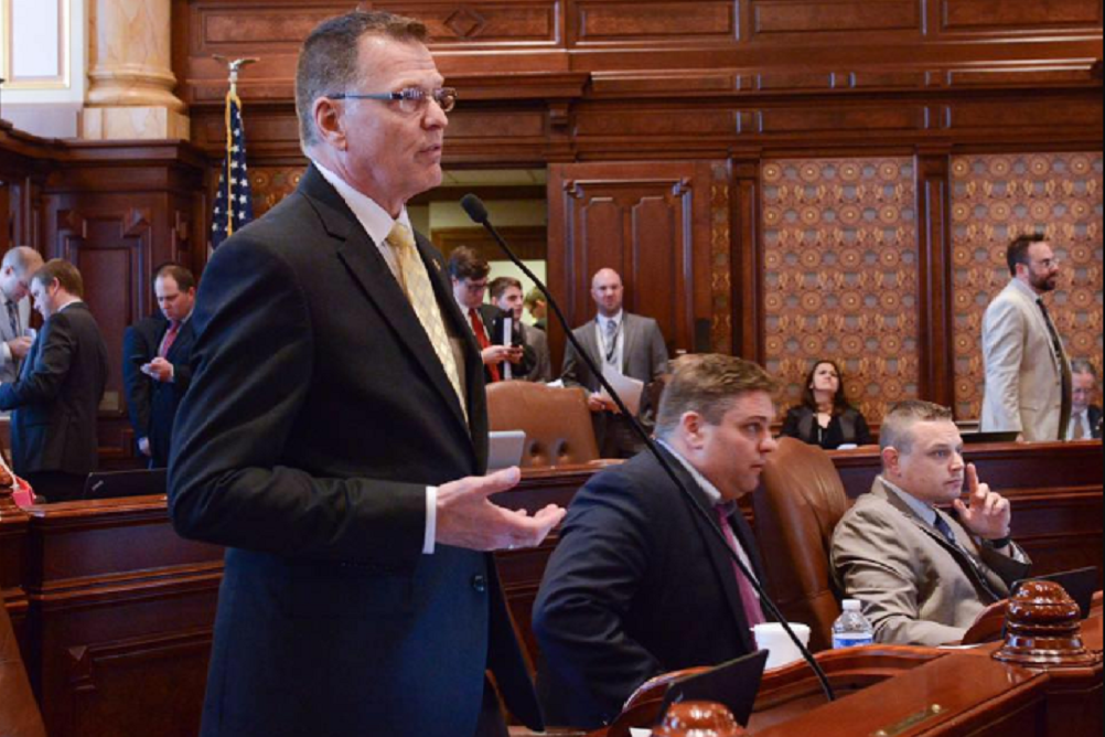 State Sen. Tim Bivins (R-Dixon) voted no on the state budget.