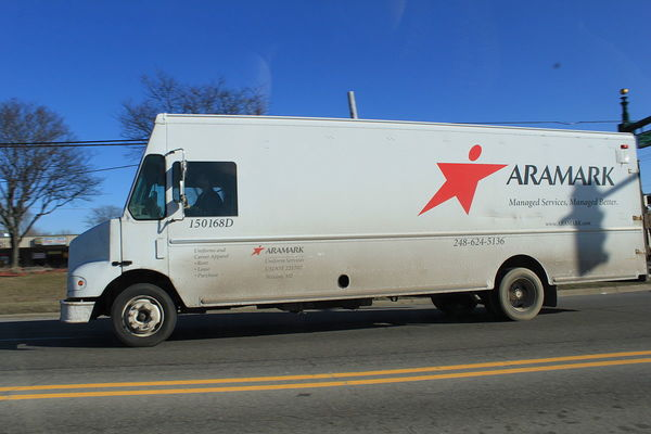 Large 1200px aramark uniforms delivery truck