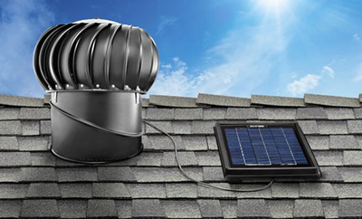 Solar attic fans operate independently of the home's electric grid.