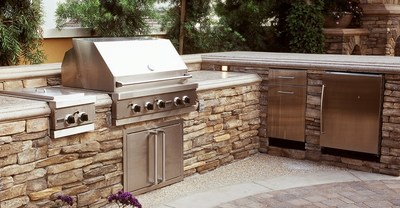 Brick walls and granite countertops are made to stand up to the elements.