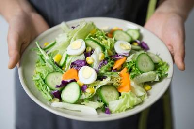 Mixed Go Green's made-to-order salads can be topped with one of 36 different dressings.