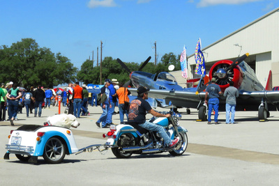 The Georgetown Airport show is unique in that it combines the world of automobiles and aviation.