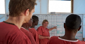 Health professionals serving on an FMT during the Ebola outbreak in West Africa.