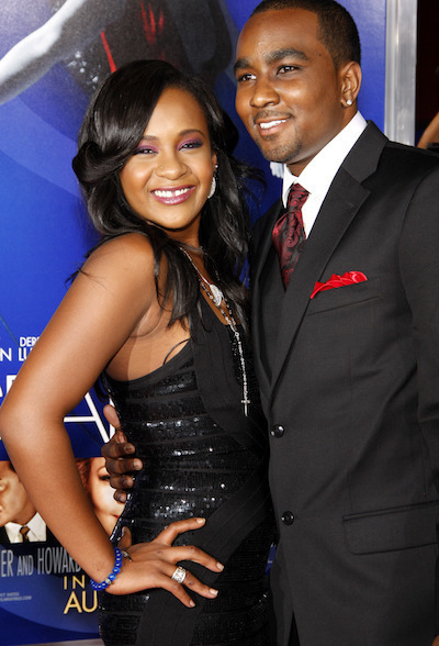 Bobbi Kristina Brown and Nick Gordon before her death in 2015.
