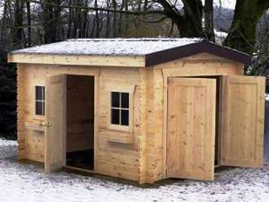 Medium shed generic wood winter