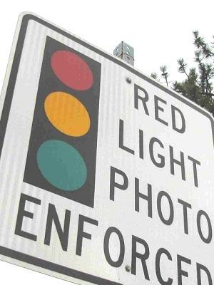 Large redlightcamerasign