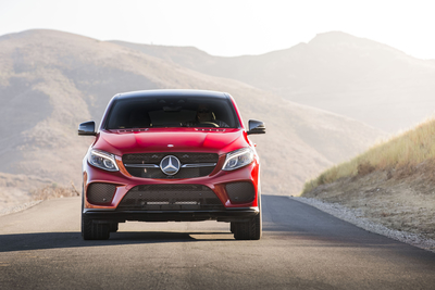 It's the same basic chassis as the boxier GLE wagon, but the GLE Coupe actually looks the part of a capable sporting machine. Part of that comes from the fat tires that are more than a foot wide at the back.