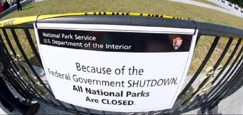 During the partial government shutdown of 2013, the Parks Service angered people with signs like these