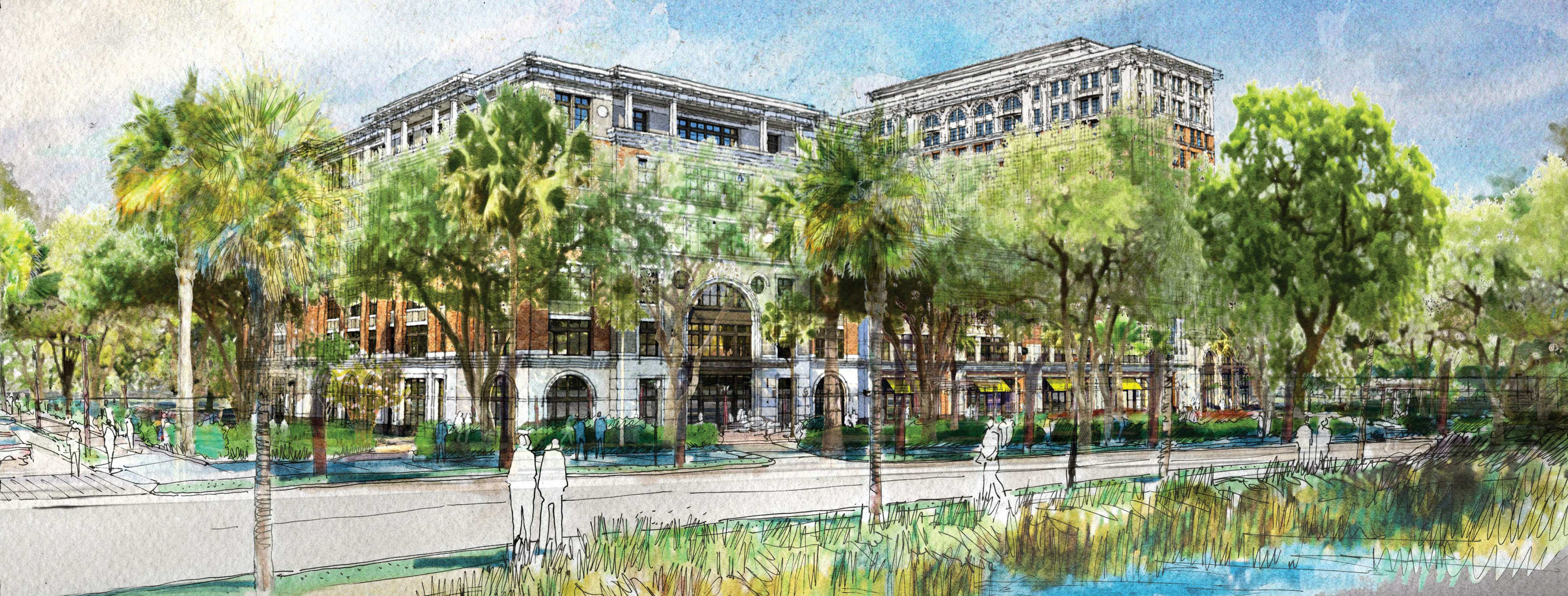 Rendering for redeveloped Sgt. Jasper property