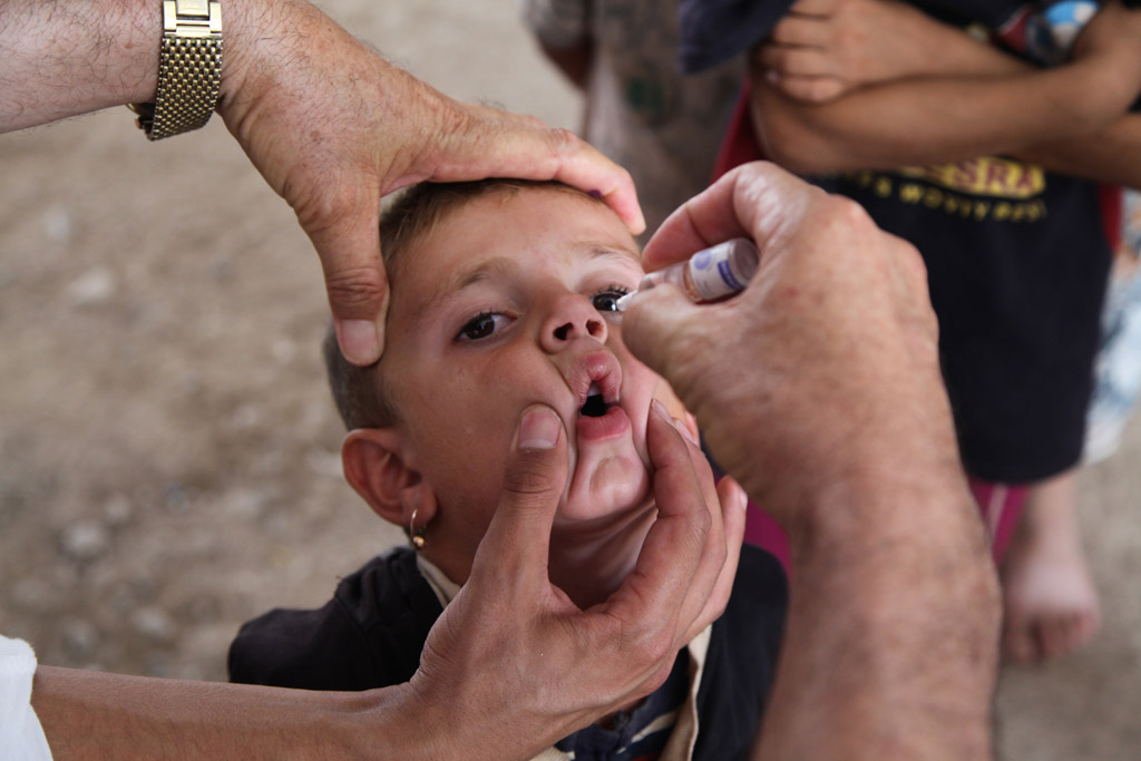 Polio mainly exists in the poorest areas of the world.