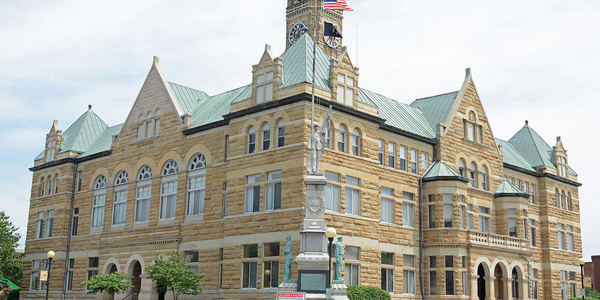 Large coles county courthouse
