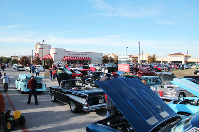 Dozens of cars were on display for the Toy Drive Cruise-in event to benefit disabled veterans' kids.