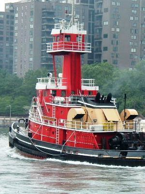 Large tugboat red spunky