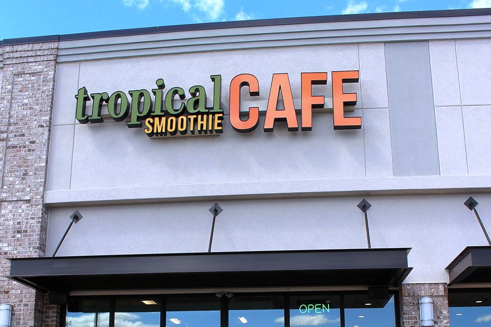 The café's original branch is located in Woodruff Shopping Center in Greenville.