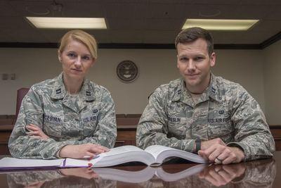 Capt Marta Kolcz-Ryan and Capt William Breslin