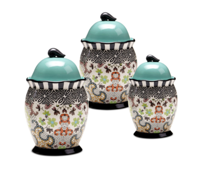 Tracy Porter Rose Boheme 3-Piece Canister Set: $145