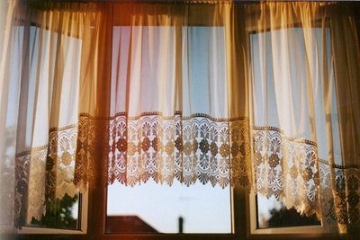 Window treatments come in a variety of fabrics, from delicate to rugged.