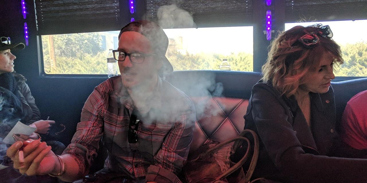 420 friendly party bus on a marijuana tour