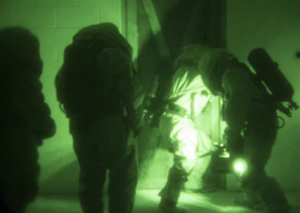 Marines at Camp Shelby take part in CBRN training on Monday.