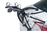 This bike rack is relatively inexpensive and compact, and can carry two bikes.