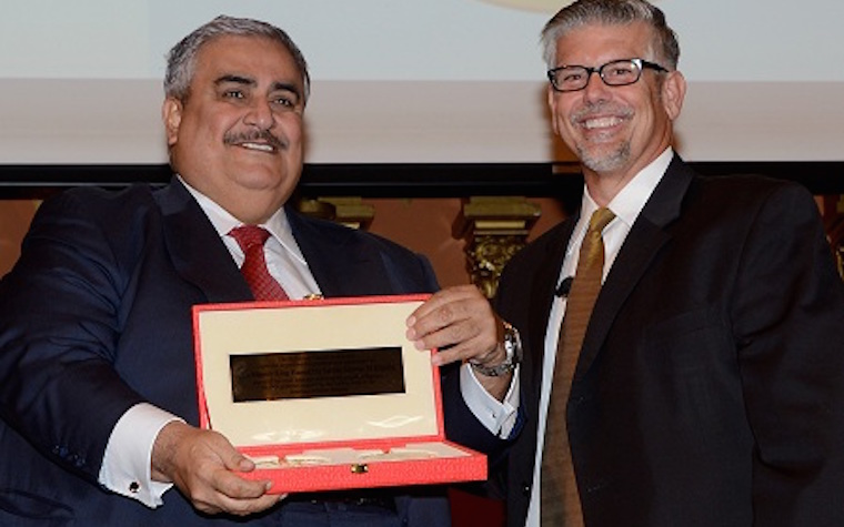 King of Bahrain receives Samuel Zwemer award for supporting American