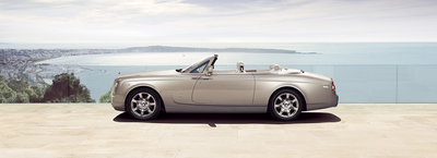 The 2015 Rolls Royce Drophead Convertible features the largest hood of any convertible on the market.