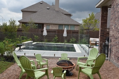 Half-inch tempered glass is becoming very popular to fence in pools