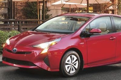 Toyota built and sold one million hybrids (Prius shown) in just nine months. That includes Lexus hybrids, too.