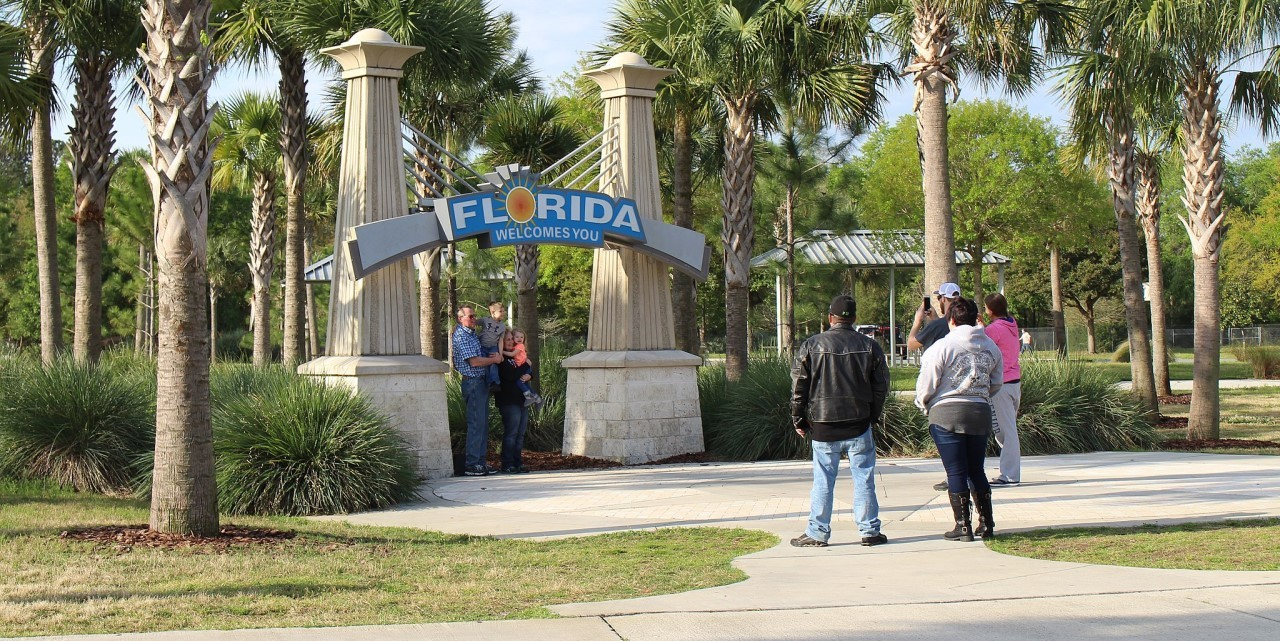 Florida welcomes you sign