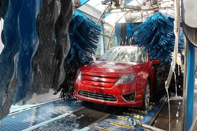 Your car system's sensors and forward-facing camera may misinterpret the car wash brushes as a threat.
