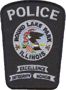 Medium round lake beach village cops patch