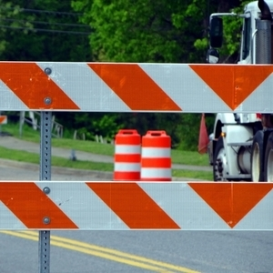 Rock Island announced the closure of 18th Street at Sixth Avenue for construction today.