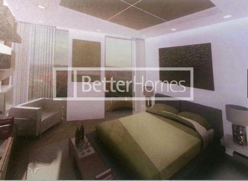 A bedroom in the soon to be available three bedroom penthouse apartment in Muscat